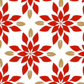 Poinsettia Geometric Large
