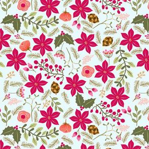 Poinsettia_flower_fond_bleu_L