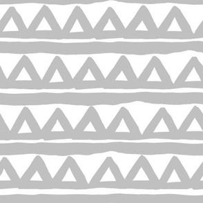 Safari triangle - Grey and White
