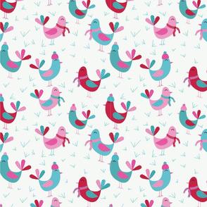 Joyful Birds-Pink