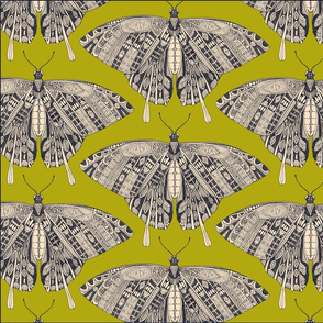 swallowtail butterfly citron basalt tea towel