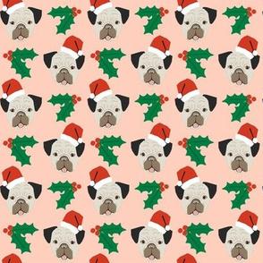 pug christmas fabric pug dog fabric christmas design cute xmas holiday christmas fabric santa paws christmas fabric