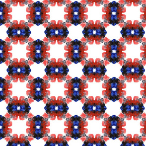 Abstract ornaments red black blue