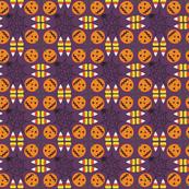 Halloween Pumpkin and Candy Corn Print