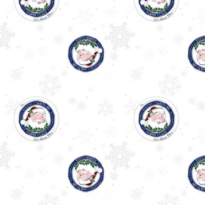 Official Santa Claus Wrapping Paper - Winter White