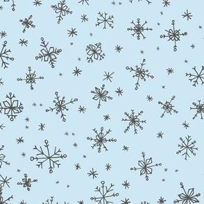 snowlakes tender colors