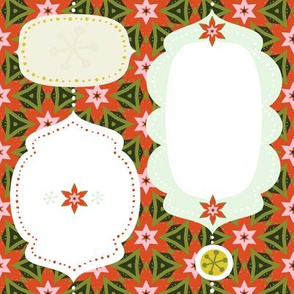Poinsettia Gift Tags by Friztin