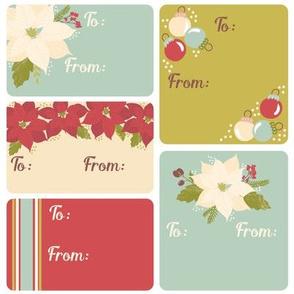 Classic Poinsettia gift tags