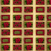 Poinsettia Gift Labels