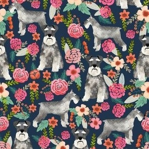 schnauzer floral dog fabric cute vintage florals fabrics cute floral design schnauzers neutral dog fabric