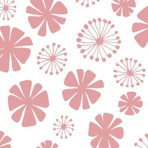 pale pink flowers - large scale