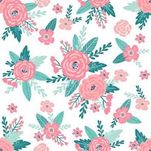 floral fabric cute florals fabric cute dog coordinate floral fabric florals vintage style flowers