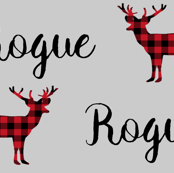 personalized fabric name fabric buffalo plaid red and black check name text font fabric