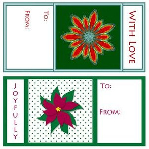 Poinsettia Gift Cards by FireFlower ©2016 Sue Ellen Wolcott