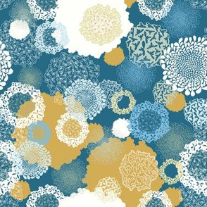 Doily Flowers Seamless Repeating Pattern
