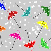 Umbrella Snow Dance
