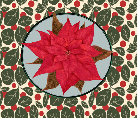 Eclectic Style Pillows : Red Poinsettia for Pillow fabric - eclectic_house - Spoonflower