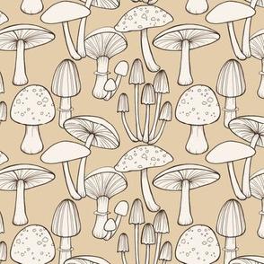 Mushrooms  - taupe