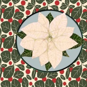 White Poinsettia for Pillow
