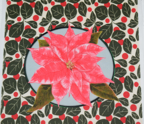 Pink Poinsettia for Pillow