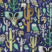 desert owls - dark blue