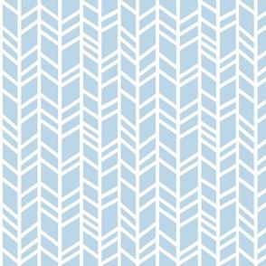 Crazy herringbone- Baby blue and white - Cottonwood - baby boy nursery