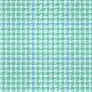 tartan check - soft aqua