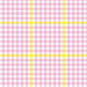 tartan check - pink lemonade