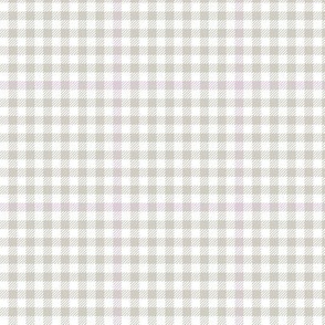 subtle lilac and grey tartan check