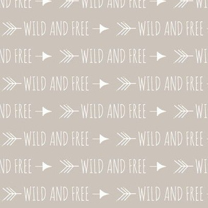 Wild and free arrows - small scale - beige