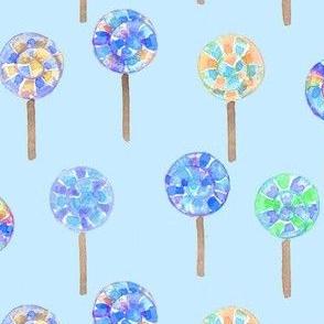 lollipops blue