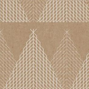 Little Fir Trees - Brown Paper Wrap