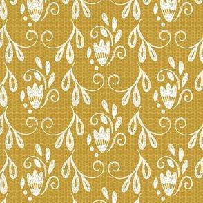 Rustic Mustard Lace