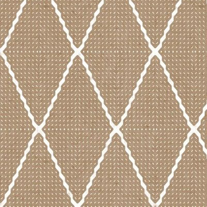 Geo Wave Diamonds - Brown Paper Wrap