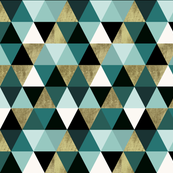 Teal Triangles Harlequin