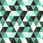 Mint Green Triangles