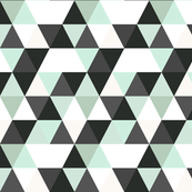 Mint Black and white Triangles