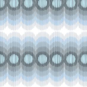 Scalloping Circles Ikat Gray2