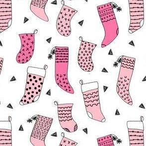 stockings // pink christmas stockings fabric cute xmas holiday christmas fabric