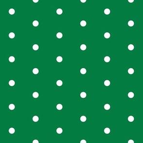 christmas dots // green christmas fabric cute xmas holiday christmas fabrics green christmas design