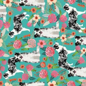 border collie blue merle border collie railroad fabric cute dogs floral design cute florals fabric
