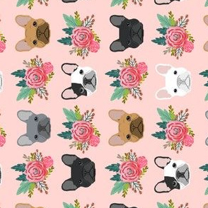french bulldog florals pink pet frenchies fabric cute french bulldog fabrics cute railroad designs