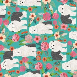 old english sheepdog florals cute dogs best dog floral prints cute old english sheepdog designs railroad fabric