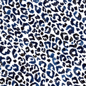 Painted Blue Leopard