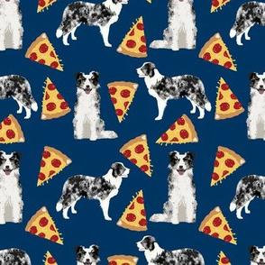 blue merle pizza fabric cute border collie fabric cute dogs fabric best dog pizza design