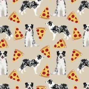 blue merle border collies pizza cute pizza fabrics neutral dogs fabric cute dog design