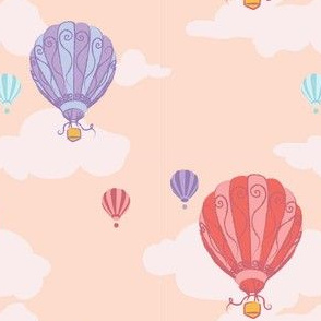 Colourful Balloons in Coral Pink