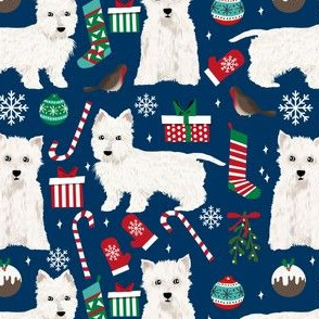 westie chrsitmas fabric cute west highland terrier fabrics cute christmas dogs cute fabrics