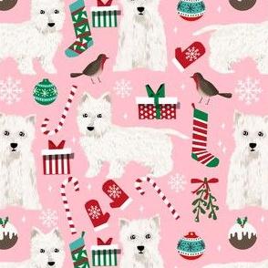 westie christmas fabric cute west highland terrier fabrics west highland fabrics cute christmas fabrics