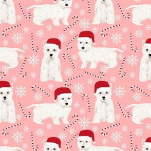 westie christmas fabric cute peppermint stick fabrics west highland terrier fabrics cute westie  pink christmas